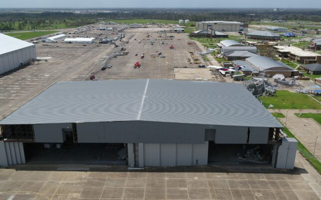 csm industrial project chennault hangar roof