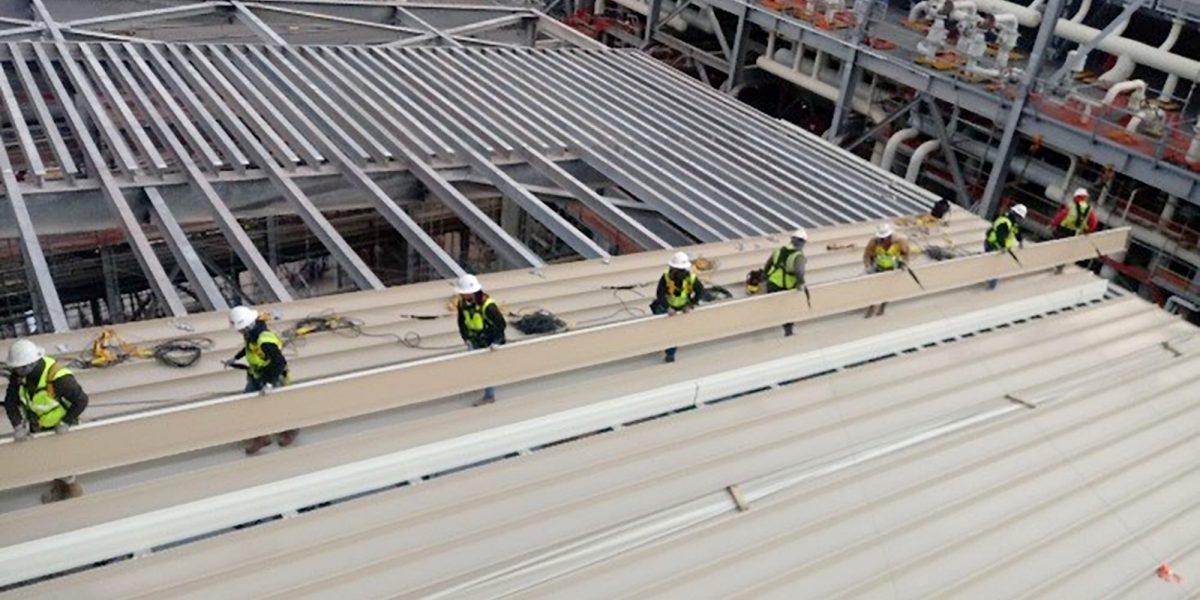 csm industrial standing seam project